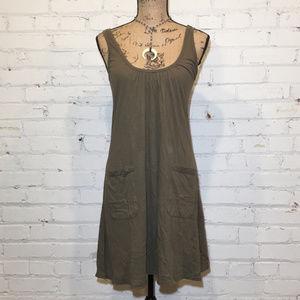 Green Sleeveless summer dress. Cotton. M. NWOT.